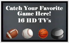 catch your favorite game here at jts porch